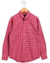 Brooks Brothers Boys' Plaid Button-Up Shirt