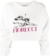 Fiorucci logo cropped sweatshirt