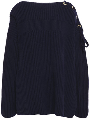 Stella McCartney Lace-up Cashmere And Wool-blend Sweater