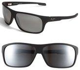 Maui Jim 'Island Time - PolarizedPlus ® ' Rectangle Wrap 64mm Sunglasses