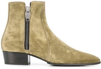 Balmain Zipped Ankle Boots