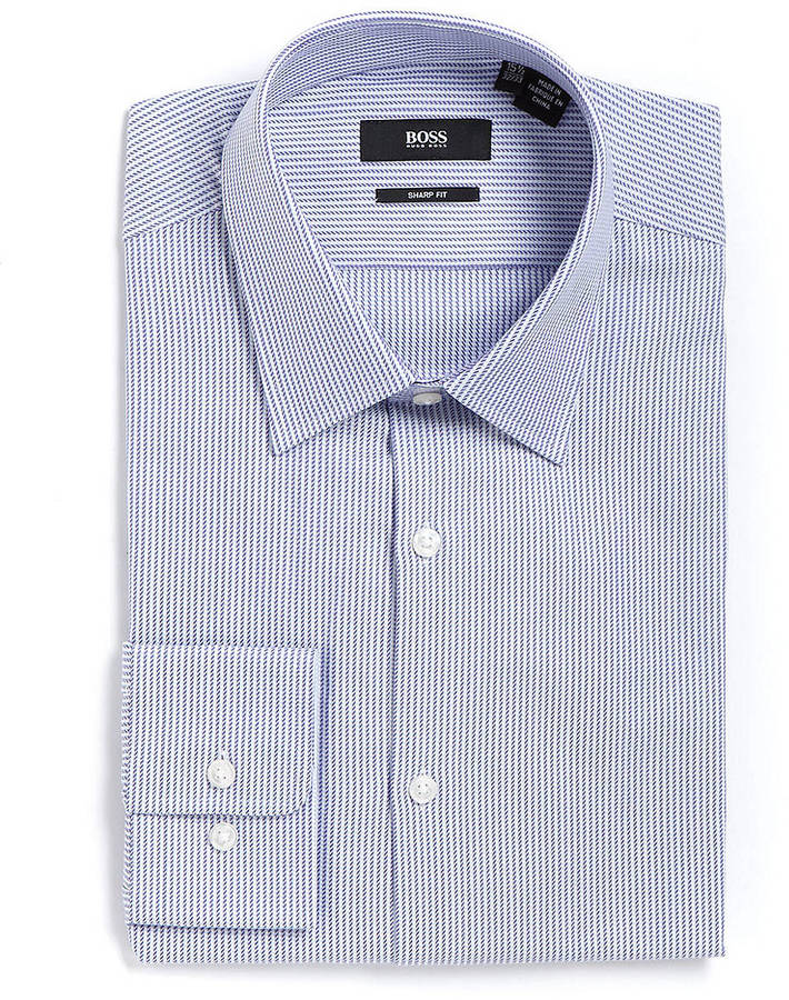 HUGO BOSS Cross-Stitch Cotton Dress Shirt