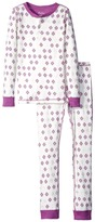 Hatley Metallic Snowflakes Henley Pajama Set (Toddler/Little Kids/Big Kids)