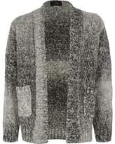 River Island Boys grey ombre knit cardigan