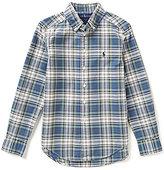 Ralph Lauren Big Boys 8-20 Plaid Poplin Shirt
