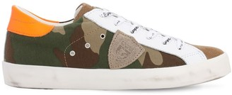 Philippe Model Camouflage Printed Suede Sneakers