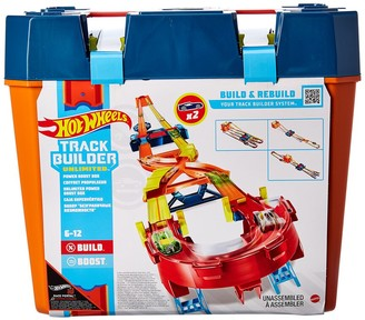 Mattel Hot Wheels Track Builder Unlimited Power Boost Box