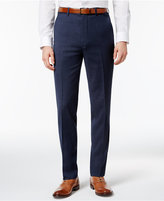 Ben Sherman Men's Slim-Fit Blue Solid Suit Pants