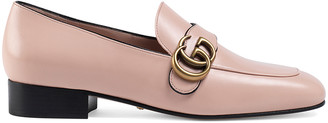 Gucci Double G Leather Loafers in Perfect Pink | FWRD