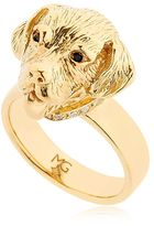 Gold Plated Silver Labrador Ring