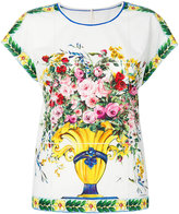 Dolce & Gabbana floral print top - women - Cotton - 38