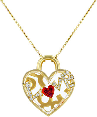 Aisha Baker Love 18K Gold And Multi-Stone Necklace