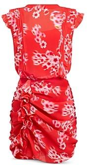 AllSaints Hali Jasmine Printed Gathered Dress