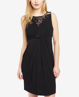 Motherhood Maternity Lace-Trim A-Line Dress
