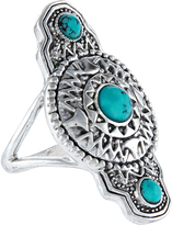 Accessorize Turquoise Shield Ring