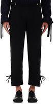 J.W.Anderson Men's Lace-Up-Cuff Pants-BLACK