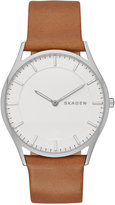 Skagen Men's Slim Holst Brown Leather Strap Watch 40mm SKW6219