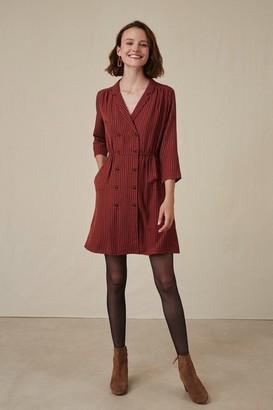 Des Petits Hauts Rust and Brownish Red Tahina Tribeca Dress - T0