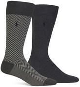 Polo Ralph Lauren Herringbone & Solid Trouser Socks - Pack of 2
