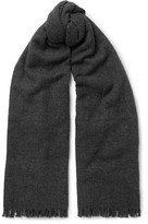 Rick Owens Wool-blend Scarf - Charcoal