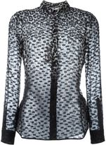 Burberry leopard print devoré shirt