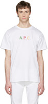 A.P.C. White Logo couleurs T-shirt
