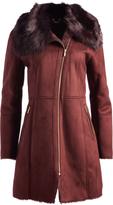Cole Haan Burgundy Faux Fur Jacket