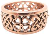 I Love Copper Rings - Size 9 Copper Celtic Shamrock Ring CTR1001 - Size 9 - 3/8 of an inch wide