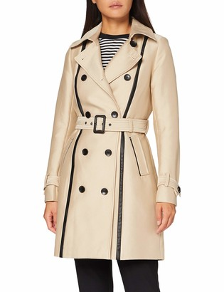 Morgan Women's Trench Details Pu Noir Gaston Trenchcoat