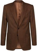 Gieves & Hawkes Birdseye Tweed Wool Blazer