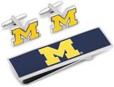 Ice University of Michigan Cufflinks and Money Clip Gift Set