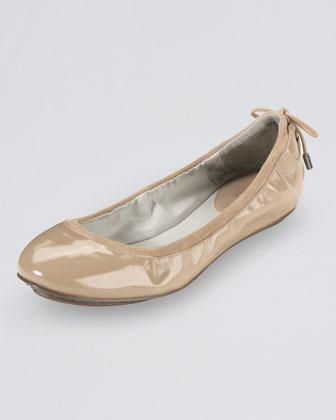 Cole Haan Air Bacara Patent Ballerina Flat, Sandstone