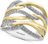 Effy Diamond Two-Tone Ring (3/8 ct. t.w.) in 14k Gold and White Gold