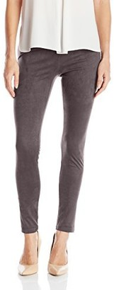 Tribal Women's Stretch Faux Suede Pull On Legging