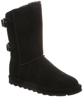 BearPaw Clara Wide Suede Ankle Boot