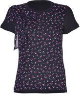 RED Valentino Valentino R.E.D. Black/Ink-Multi Modal/Silk Combo T-Shirt