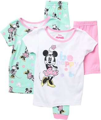 AME Minnie Mouse T-Shirt & Bottoms Cotton Pajama Set - Pack of 2