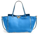Valentino 'Medium Rockstud' Tote - Blue