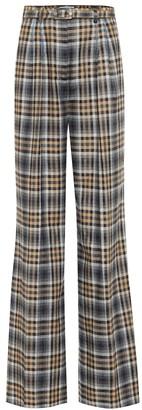 Gabriela Hearst Vargas checked wool-blend pants