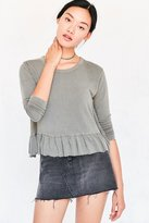 Truly Madly Deeply Serena Knit Peplum Top