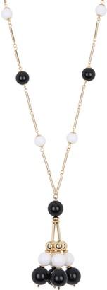 trina Trina Turk Long Ball Beaded Tassel Pendant Necklace