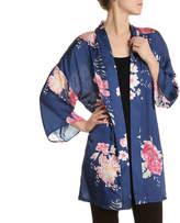 Kelly & Katie Floral Satin Kimono - Women's