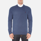 Polo Ralph Lauren Crew Neck Merino Knitted Jumper Shale Blue Heather
