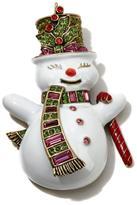 "Heidi Daus Snowman Dandy"" Enamel and Crystal Pin"