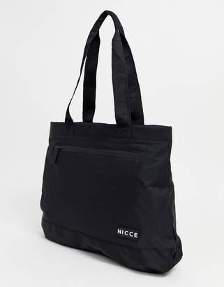 Nicce shopper tote bag in black
