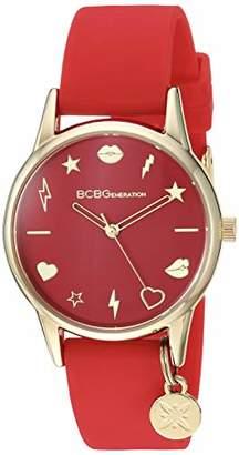 BCBGGENERATION Women's Classic Japanese-Quartz Watch with Silicone Strap