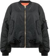 Yang Li rear-print zipped bomber jacket