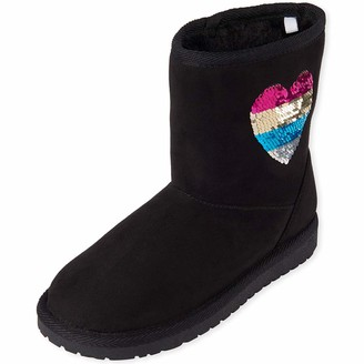 Children's Place The Girls' Faux Shearling Boot Fashion