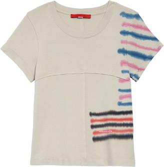 Eckhaus Latta Tie Dye Lapped Seam Baby T-Shirt