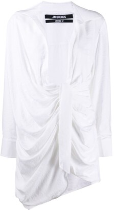 Jacquemus Bahia knotted shirt dress